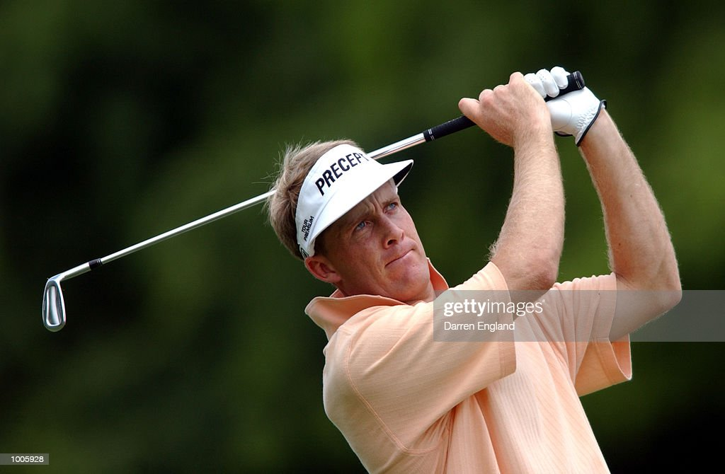 Stuart Appleby of Australia plays his second shot on the 5th fairway during the second round of the Australian PGA Championship being played at Royal Queensland Golf Club in Brisbane, Australia. He finished his round at two over par. DIGITAL IMAGE. Mandatory Credit: Darren England/ALLSPORT