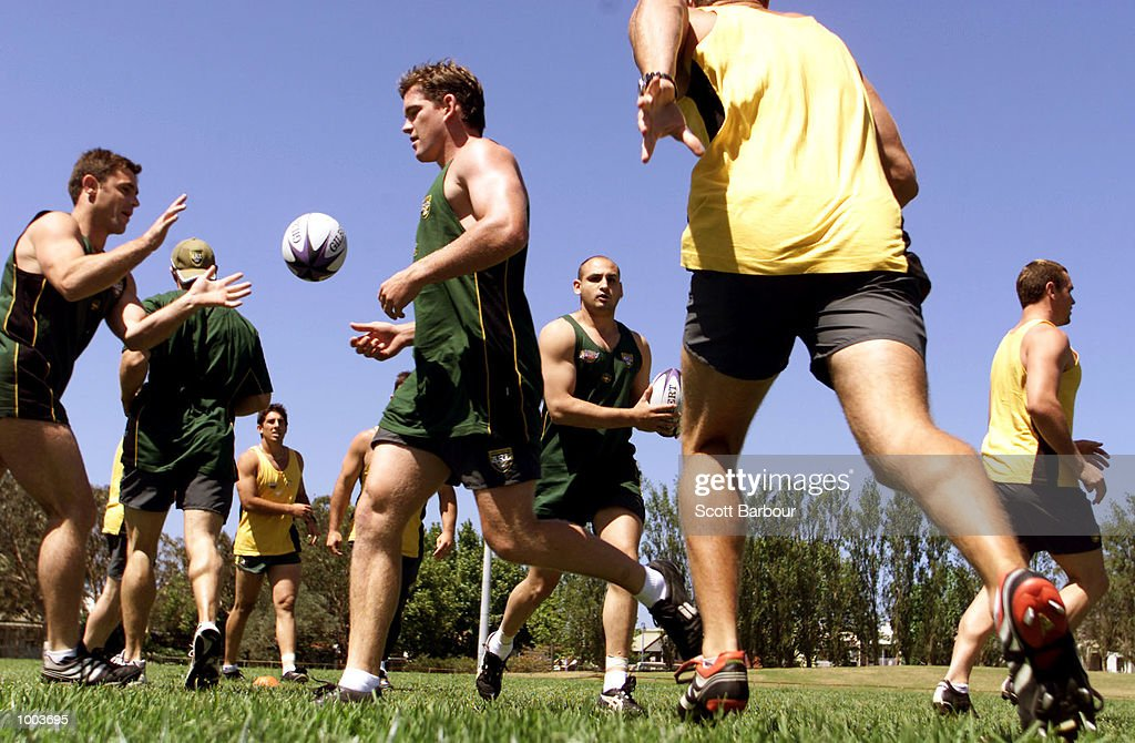 The Australian team train after the team to play Great Britain in the first test on the Kangaroo tour of England was announced. Training was held at Erskineville Oval in Sydney, Australia. DIGITAL IMAGE. Mandatory Credit: Scott Barbour/ALLSPORT