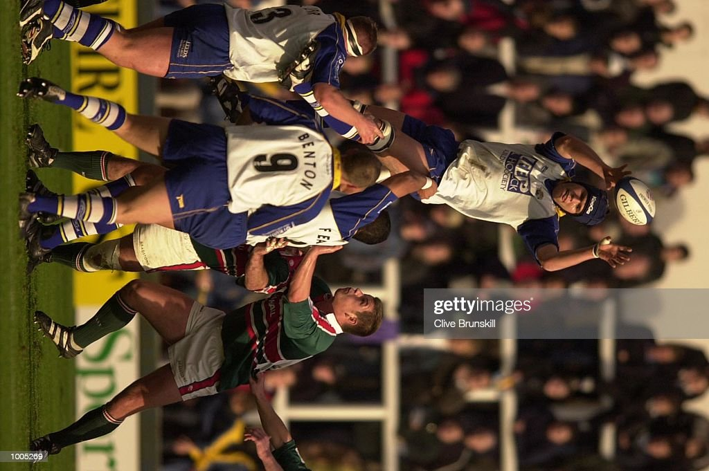 Tom Palmer of Leeds in line-out action against Leicester in the Zurich Premiership Rugby match between Leeds Tykes and Leicester Tigers at Headingley, Leeds, DIGITAL IMAGE. Mandatory Credit: Clive Brunskill/ALLSPORT