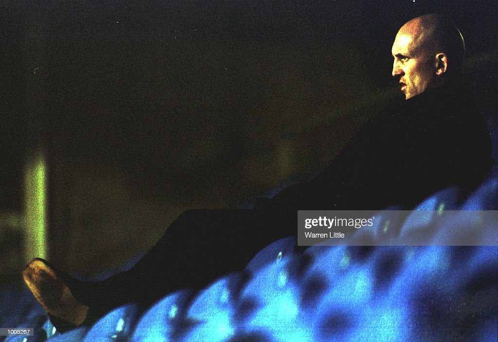 Wasps coach Shaun Edwards looks on from the stand during the Zurich Premiership match between London Wasps and Newcastle Falcons at Loftus Road, London. Mandatory Credit: Warren Little/ALLSPORT