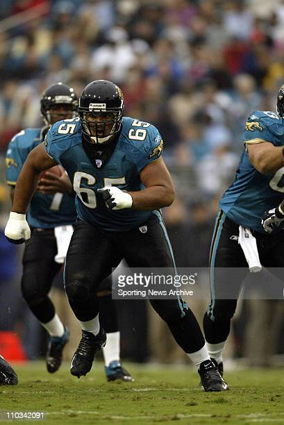 Chris Naeole of the Jacksonville Jaguars during the Jags 2823 victory over the Indianapolis Colts at Alltel Stadium in Jacksonville FL