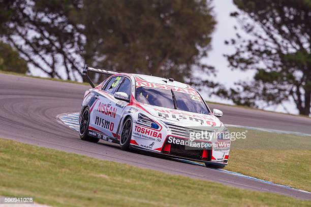 Michael Caruso of Nissan Motorsport during practice for the V8 Supercars WD40 Philip Island Supersprint held at Philip Island Circuit Philip Island...