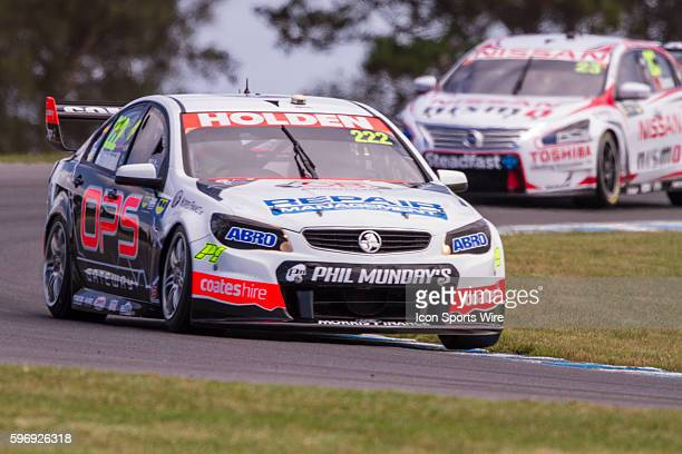 Nick Percat of Repair Management Australia Racing and Michael Caruso of Nissan Motorsport during practice for the V8 Supercars WD40 Philip Island...