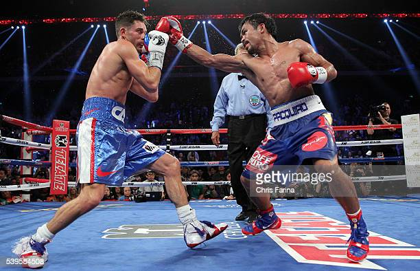 Nov 23 Macau China Superstar Manny Pacquiao wins a 12round unanimous decision over WBO Jr Welterweight champion Chris Real Rocky Algieri at the Cotai...