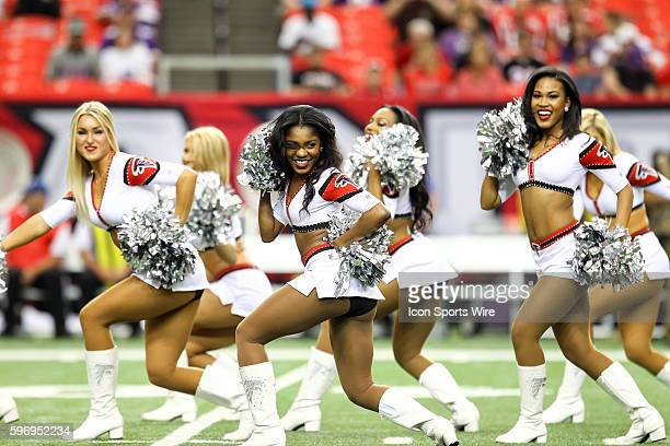 Atlanta Falcons cheerleaders before the game between the Vikings and the Falcons The Vikings defeated the Falcons 2010