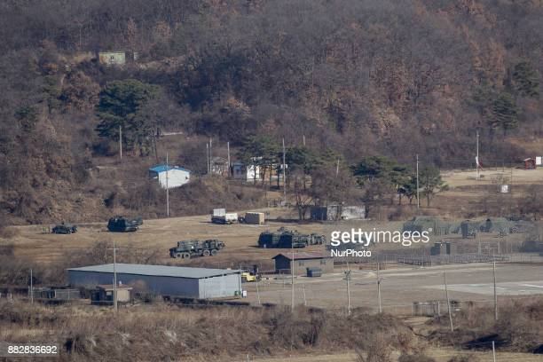 Nov 29 2017Seoul South KoreaUS Military Chemicalforces take part in a drill near DMZ in Paju South Korea Nov 29 2017 North Korea abruptly ended a...