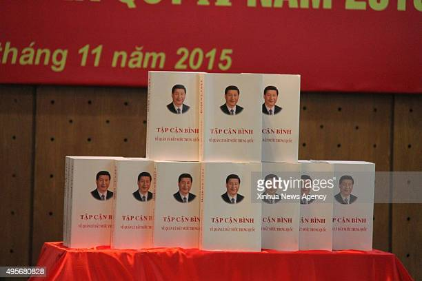 HANOI Nov 4 2015 Photo taken on Nov 4 2015 shows the Vietnamese version of Chinese President Xi Jinping's book on governance which is released in...