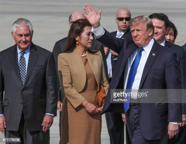 Nov 7 2017Osan South KoreaUS President Donald Trum and First Lady Melania Trump Arrived Osan Military Airbase in Osan South Korea US President Donald...