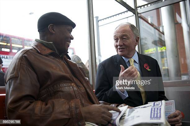 Nov 8 2011 London England UK London mayoral candidate KEN LIVINGSTONE held a day of action launching a campaign for lower fares meeting citizens on...