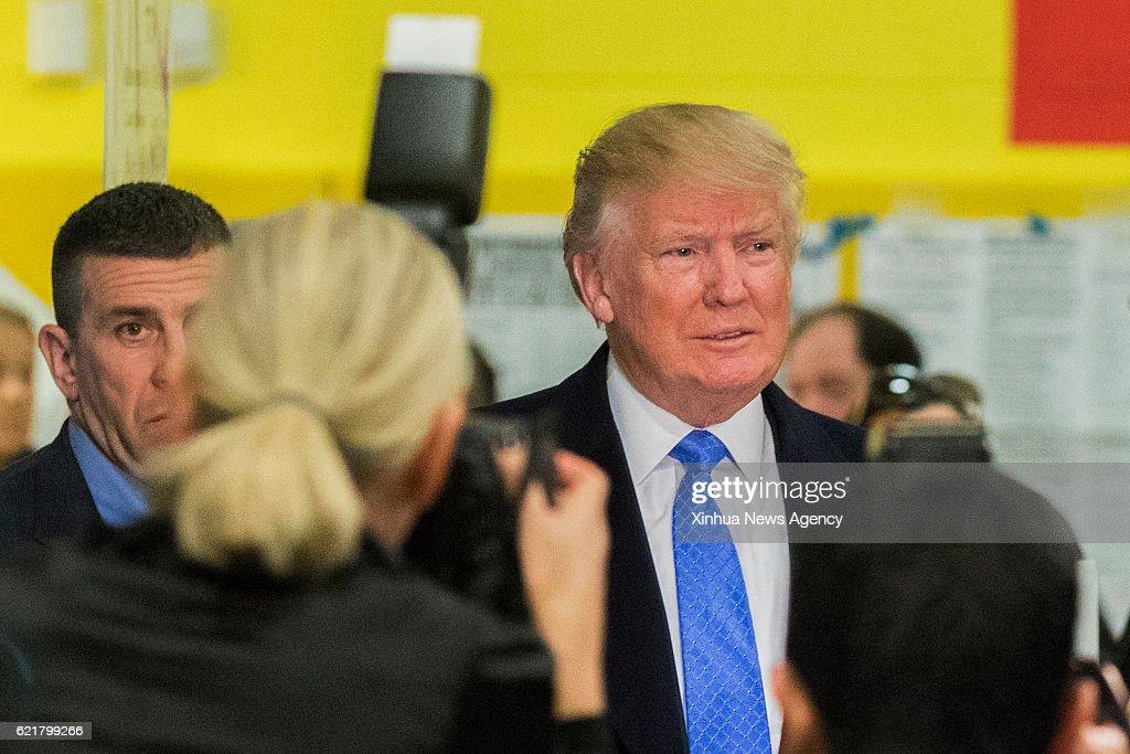 U.S.-NEW YORK-PRESIDENTIAL ELECTIONS-DONALD TRUMP : News Photo