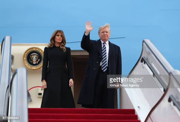 US President Donald Trump arrives in Beijing on Nov 8 starting his state visit to China