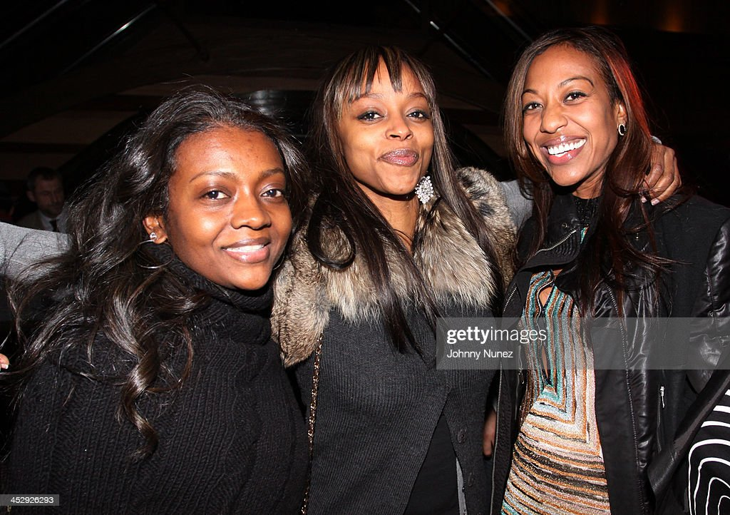 Nova, Keesha Johnson, and Sari Baez attend Sari Baez's Birthday celebration at Marquee on November 30, 2009 in New York City.