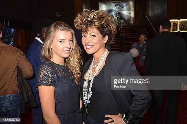 Nova Louna Castano and her mother Ysa Ferrer attend the '35th Nuit des Publivores' at Grand Rex September 17 2015 in Paris France