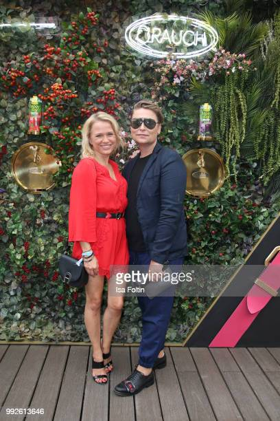 Nova Meierhenrich and Dawid Tomaszewski attends The Fashion Hub during the Berlin Fashion Week Spring/Summer 2019 at Ellington Hotel on July 5 2018...