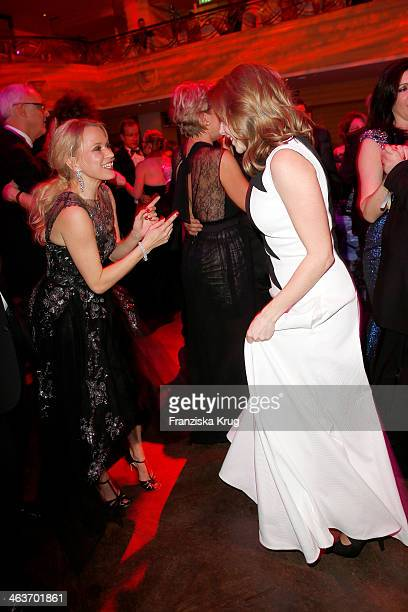 Nova Meierhenrich and Felicitas Woll attend the German Film Ball 2014 on January 18 2014 in Munich Germany