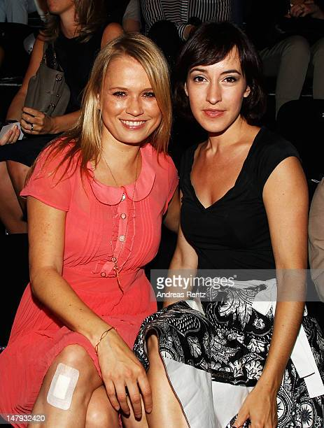 Nova Meierhenrich and Maike von Bremen sit in front row during Steven Tai Runway at MercedesBenz Fashion Week Spring/Summer 2013 on July 6 2012 in...