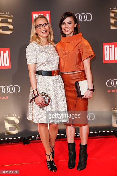 Nova Meierhenrich and Natalia Avelon attend the Bild 'Place to B' Party on February 07 2015 in Berlin Germany