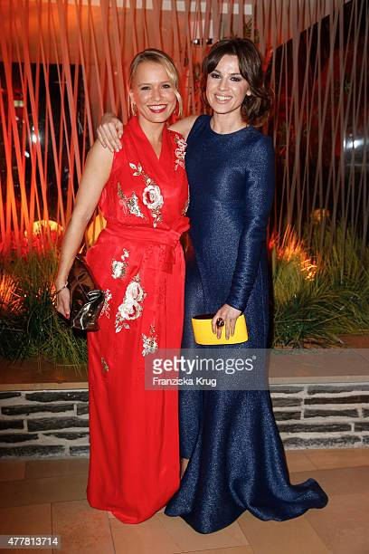 Nova Meierhenrich and Natalia Avelon attend the German Film Award 2015 Lola party at Palais am Funkturm on June 19 2015 in Berlin Germany
