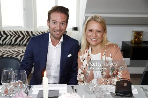 Nova Meierhenrich and Sebastian Hoeffner during the Clos19 dinner on July 13 2017 in Munich Germany