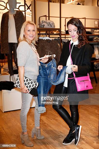 Nova Meierhenrich and Stephanie Stumph attend the 'La Boum Fashion Studio' by Soccx on September 18 2015 in Hoppegarten/ Berlin Germany