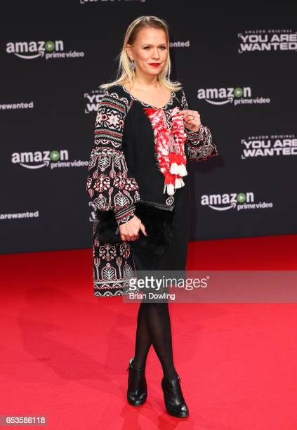 Nova Meierhenrich arrives at Amazon Prime Video's premiere of the series 'You are Wanted' at CineStar on March 15 2017 in Berlin Germany