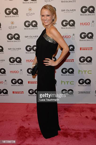 Nova Meierhenrich arrives at the GQ Men of the Year Award at Komische Oper on November 7 2013 in Berlin Germany