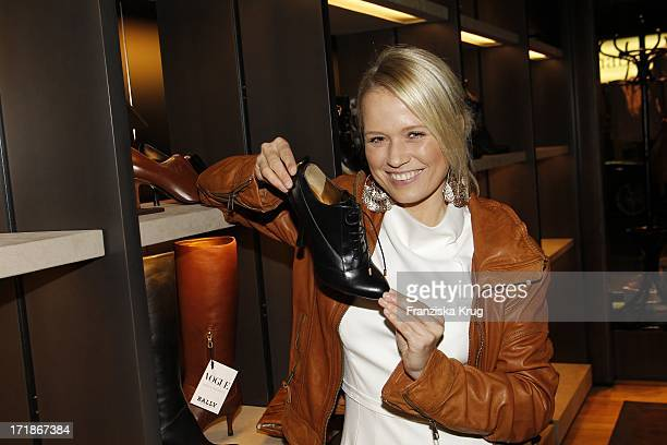 Nova Meierhenrich At Bally Store Opening Event at the Neuer Wall in Hamburg