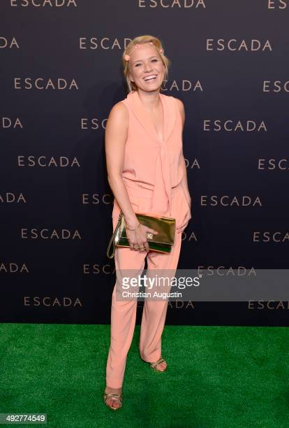 Nova Meierhenrich attends Escada Flagshipstore Opening at Kaisergalerie on May 21 2014 in Hamburg Germany