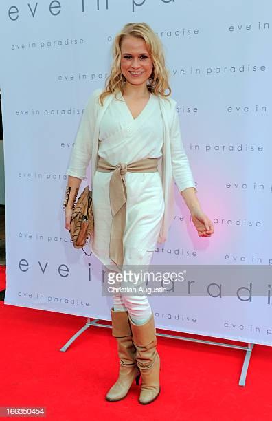 Nova Meierhenrich attends Eve in Paradise Store Opening on April 11 2013 in Hamburg Germany