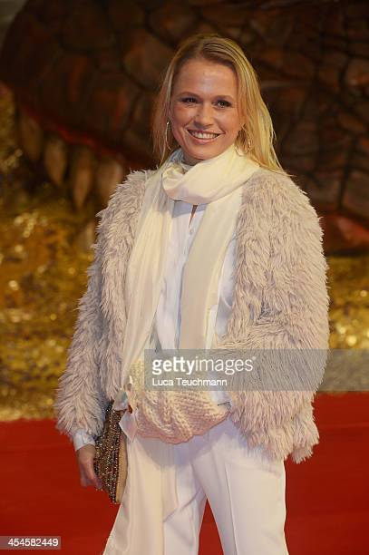 Nova Meierhenrich attends the German premiere of the film 'The Hobbit: The Desolation Of Smaug' at Sony Centre on December 9, 2013 in Berlin, Germany.