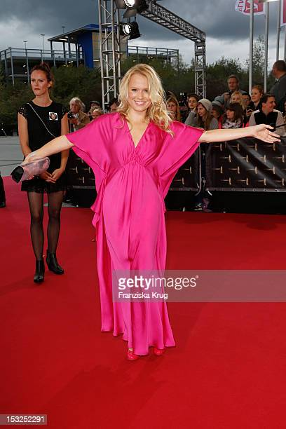 Nova Meierhenrich attends the German TV Awards 2012 at Coloneum on October 2 2012 in Cologne Germany