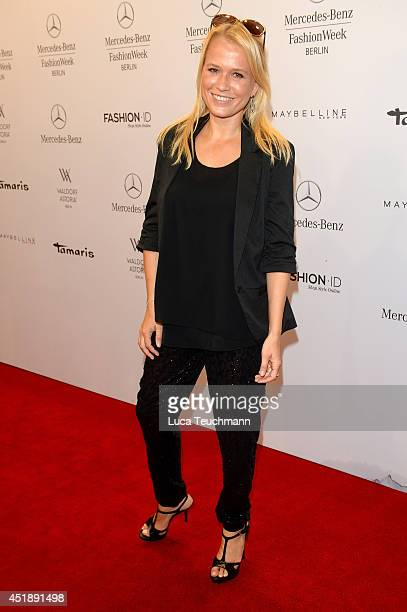 Nova Meierhenrich attends the Glaw show during the MercedesBenz Fashion Week Spring/Summer 2015 at Erika Hess Eisstadion on July 9 2014 in Berlin...