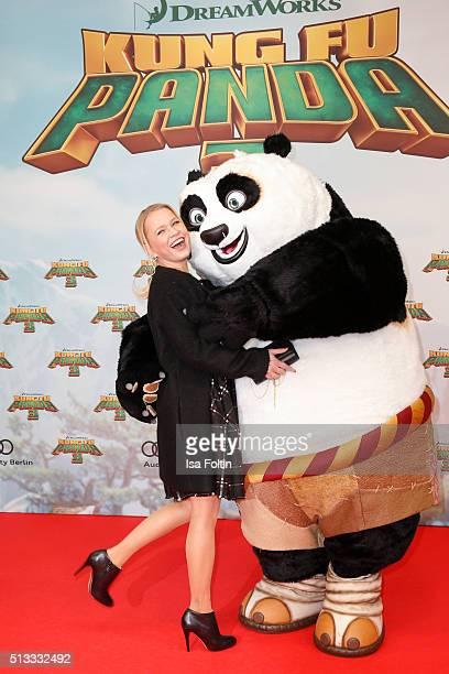 Nova Meierhenrich attends the 'Kung Fu Panda 3' German Premiere at Zoo Palace on March 02 2016 in Berlin Germany