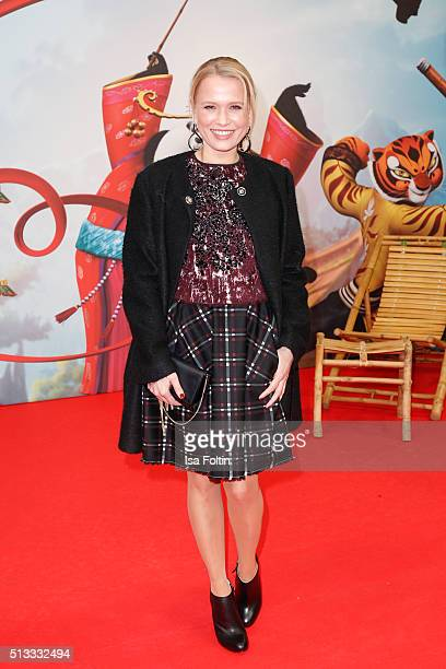 Nova Meierhenrich attends the 'Kung Fu Panda 3' German Premiere at Zoo Palace on March 02 2016 in Berlin Germany