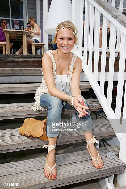 Nova Meierhenrich attends the Land Rover Public Chill 2014 at Beach Motel on August 3 2014 in St PeterOrding Germany