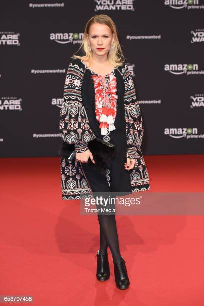 Nova Meierhenrich attends the premiere of the Amazon series 'You are wanted' at CineStar on March 15 2017 in Berlin Germany