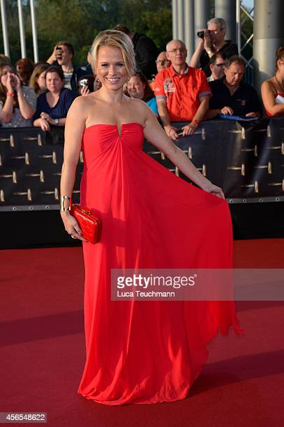 Nova Meierhenrich attends the red carpet of the Deutscher Fernsehpreis 2014 at Coloneum on October 2 2014 in Cologne Germany