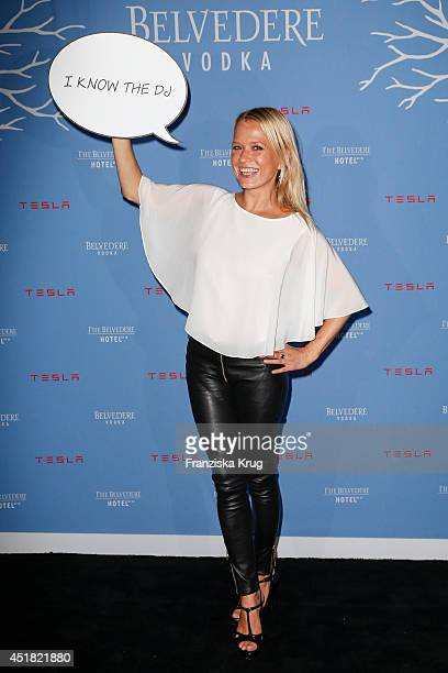 Nova Meierhenrich attends the The Belvedere Hotel By Q Opening Event on July 07 2014 in Berlin Germany