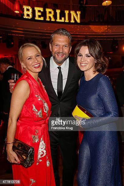 Nova Meierhenrich Kai Wiesinger and Natalia Avelon attends the German Film Award 2015 Lola party at Palais am Funkturm on June 19 2015 in Berlin...