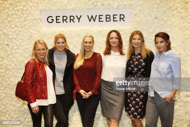 Nova Meierhenrich Nina Bott Ruth Moschner Natalia Woerner Ursula Karven and Lilli Hollunder during the Gerry Weber InStore Event on October 5 2017 in...