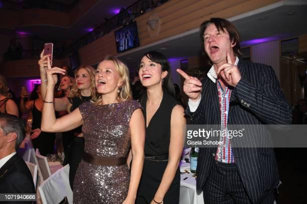Nova Meierhenrich, Stephanie Stumph, Detlev Buck during the Audi Generation Award 2018 at Hotel Bayerischer Hof on December 11, 2018 in Munich,...