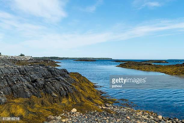 Nova Scotia coastline near Lunenburg, Blue Rocks village