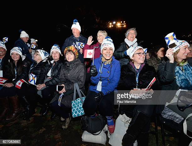 Nova Scotia families attend the Annual Boston Christmas Tree Lighting at Boston Common Park on December 1 2016 in Boston Massachusetts The Christmas...