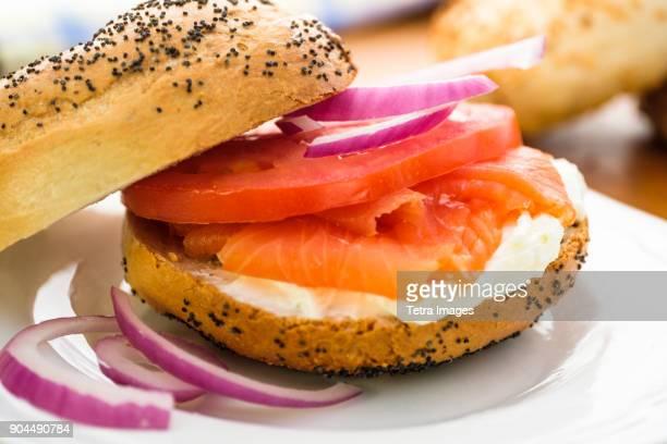 nova scotia salmon also called nova lox - salmone affumicato foto e immagini stock