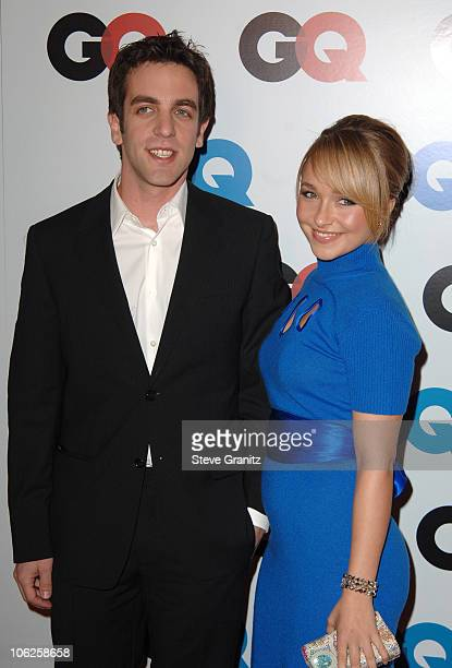 BJ Novak and Hayden Panettiere during GQ Man of the Year Awards Arrivals at Sunset Tower Hotel in Los Angeles California United States