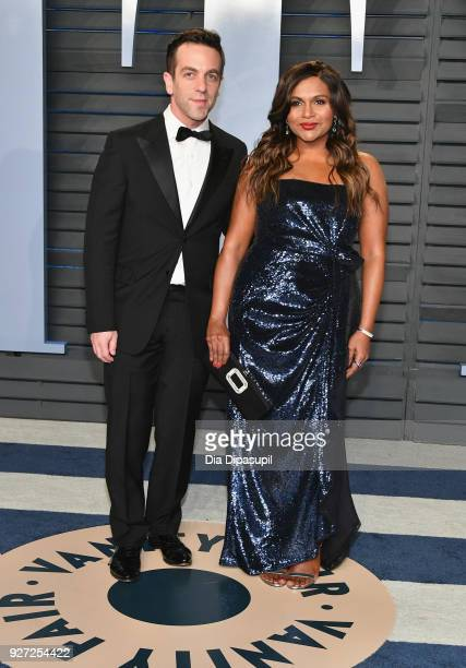 Novak and Mindy Kaling attend the 2018 Vanity Fair Oscar Party hosted by Radhika Jones at Wallis Annenberg Center for the Performing Arts on March 4,...