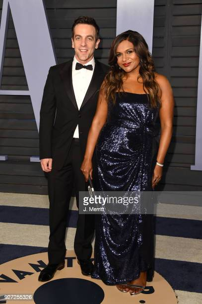 Novak and Mindy Kaling attend the 2018 Vanity Fair Oscar Party hosted by Radhika Jones at the Wallis Annenberg Center for the Performing Arts on...