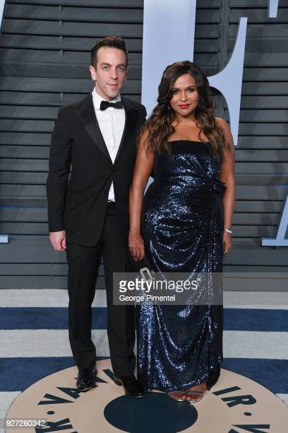 Novak and Mindy Kaling attend the 2018 Vanity Fair Oscar Party hosted by Radhika Jones at Wallis Annenberg Center for the Performing Arts on March 4...