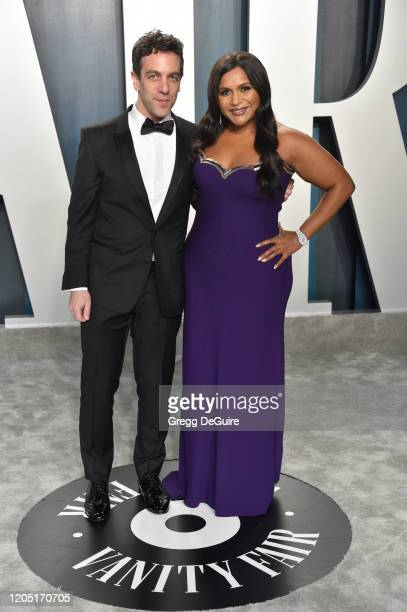 Novak and Mindy Kaling attend the 2020 Vanity Fair Oscar Party hosted by Radhika Jones at Wallis Annenberg Center for the Performing Arts on February...