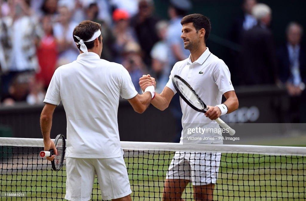 Wimbledon 2019 - Day Thirteen - The All England Lawn Tennis and Croquet Club : Nieuwsfoto's